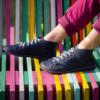 Kép 3/3 - GITA boots ÉJKÉK kézműves bőr cipő