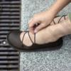 Kép 3/3 - GITA balerina LILA kézműves bőr szandál