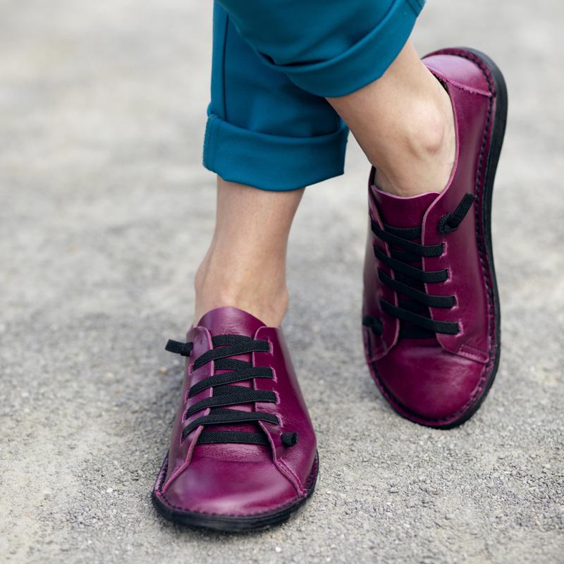 GITA bohemian CIKLÁMEN kézműves bőr cipő