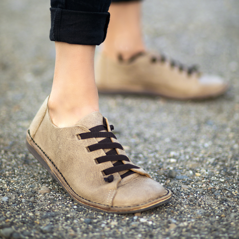 GITA bohemian HOMOK kézműves bőr cipő