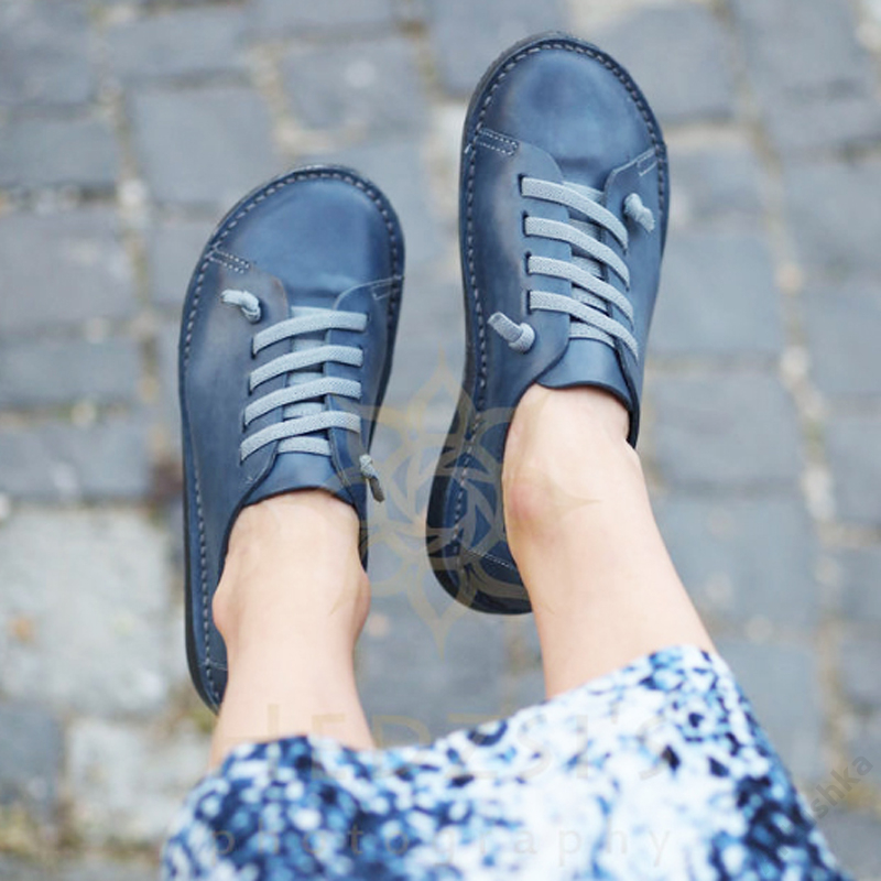 GITA bohemian KÉKESSZÜRKE kézműves bőr cipő