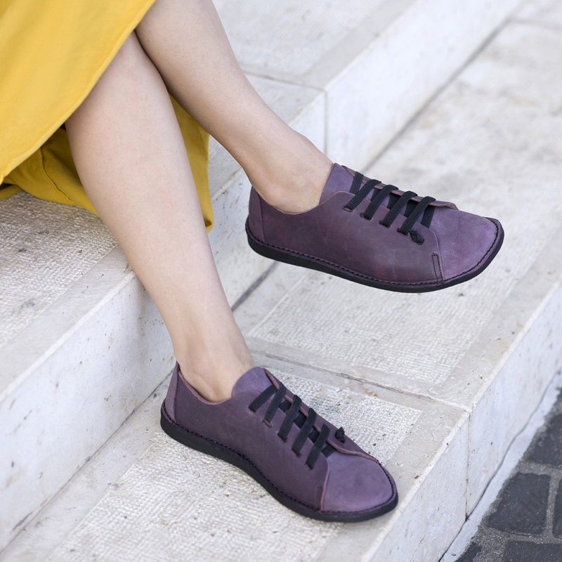 GITA bohemian KÉTSZÍNŰ PADLIZSÁN kézműves bőr cipő
