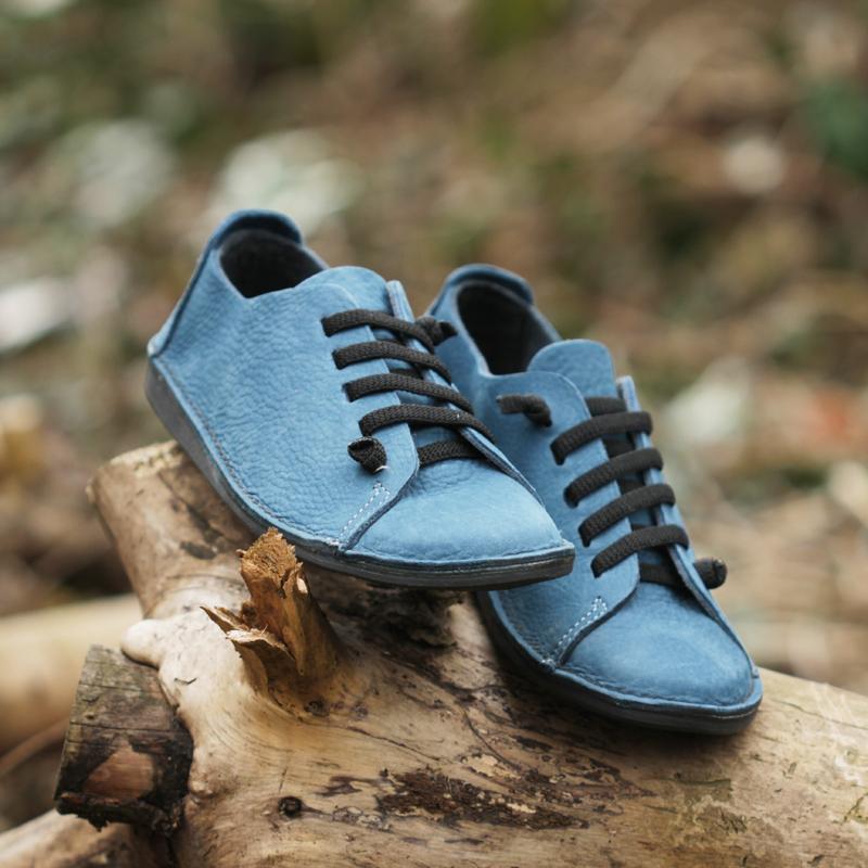 GITA bohemian PETROLKÉK kézműves bőr cipő