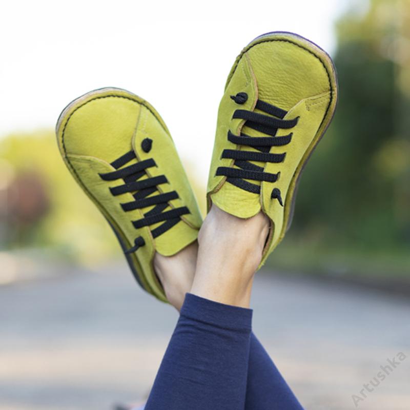 GITA bohemian PISZTÁCIA kézműves bőr cipő