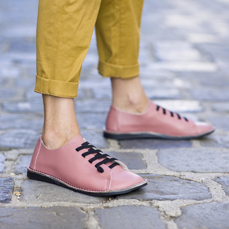 GITA bohemian PÚDER kézműves bőr cipő