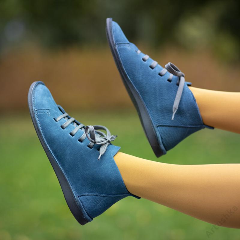 GITA boots PETROL KÉK kézműves bőr cipő