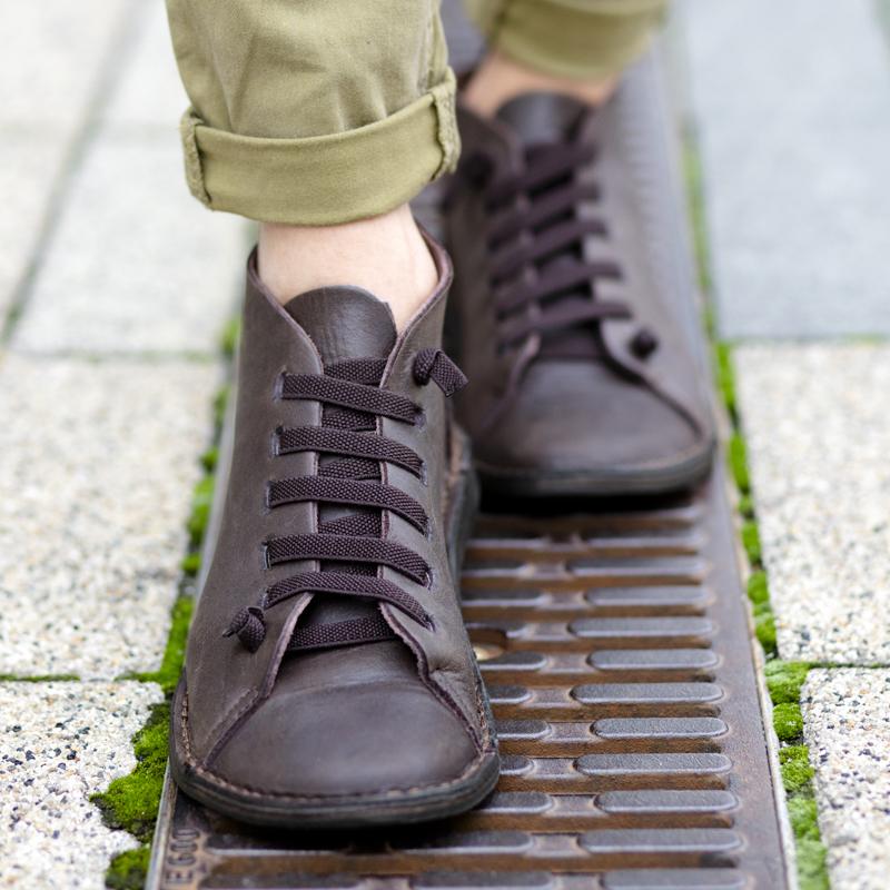 GITA boots SÖTÉT BARNA kézműves bőr cipő