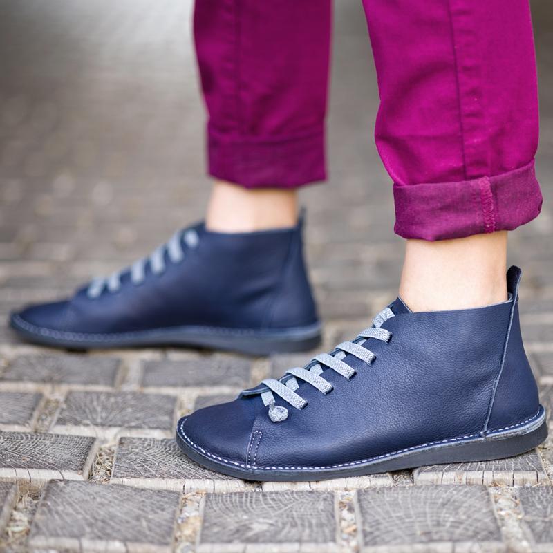 GITA boots ÉJKÉK kézműves bőr cipő